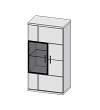 Шкаф навесной Бм.Кор-33-Прав (АЛ)