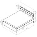 Кровать МД12 (120х200) схема