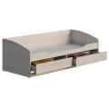 Кровать КР-002 Мийа 3 А (80х200) (Маг) выдвинутые ящики
