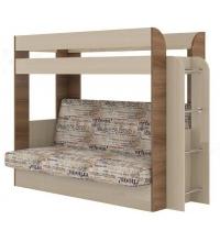 Кровать двухъярусная Карамель 75 + Нижний диван