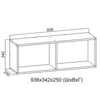 Полка №1 (Навесная) к столу комп. №10 (SV)