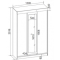 Шкаф-купе (спальня ЭДМ 5) схема