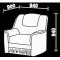 Кресло Нео 6 (КР) схема