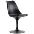 Стул Barneo N-8 Tulip style Черный с черной подушкой