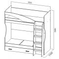 Кровать 2-х яр. с ящиком (Детская город) (80х186) схема