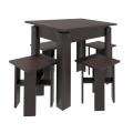 Стол + 4 табурета Стелла-2 Венге