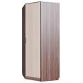 Шкаф угловой (спальня ЭДМ 5) шимо темный/ шимо светлый