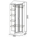 Шкаф угловой ВМ-07 (ДМ-01) (Детская Вега) схема