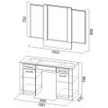 Стол туалетный+зер. (спальня Гамма 20) схема