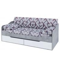 Кровать-диван с ящ. без печати (Детская Грей) (90х200)