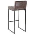 Барный стул Пилигрим (СТ) аттика шоколад, каркас металл черный