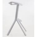 Барный стул BARNEO N-228 белый сбоку