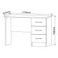 Письменный стол СТР1118.1 Ронда (ДСВ) схема
