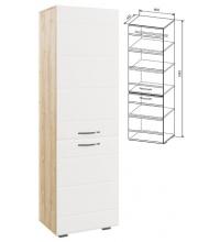 Шкаф АШК600.2 (Асти дуб бунратти/бел. гл. (ДСВ))