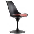 Стул Barneo N-8 Tulip style Черный с красной подушкой