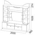 Тумба для ТВ (Гамма 15 модульная) схема