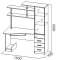Компьютерный стол №4 (SV) схема