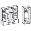 Гостиная Аллегро вариант-4 со шкафом наполнение
