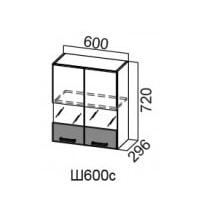 Шкаф нав. Ш600с/720 со стеклом