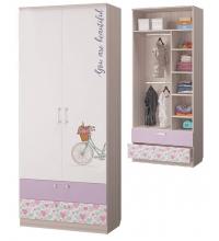 Шкаф для одежды с 2-мя ящ. (детская Адель)